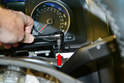 Use a T20 Torx and remove the single screw from the gauge cluster (red arrow).