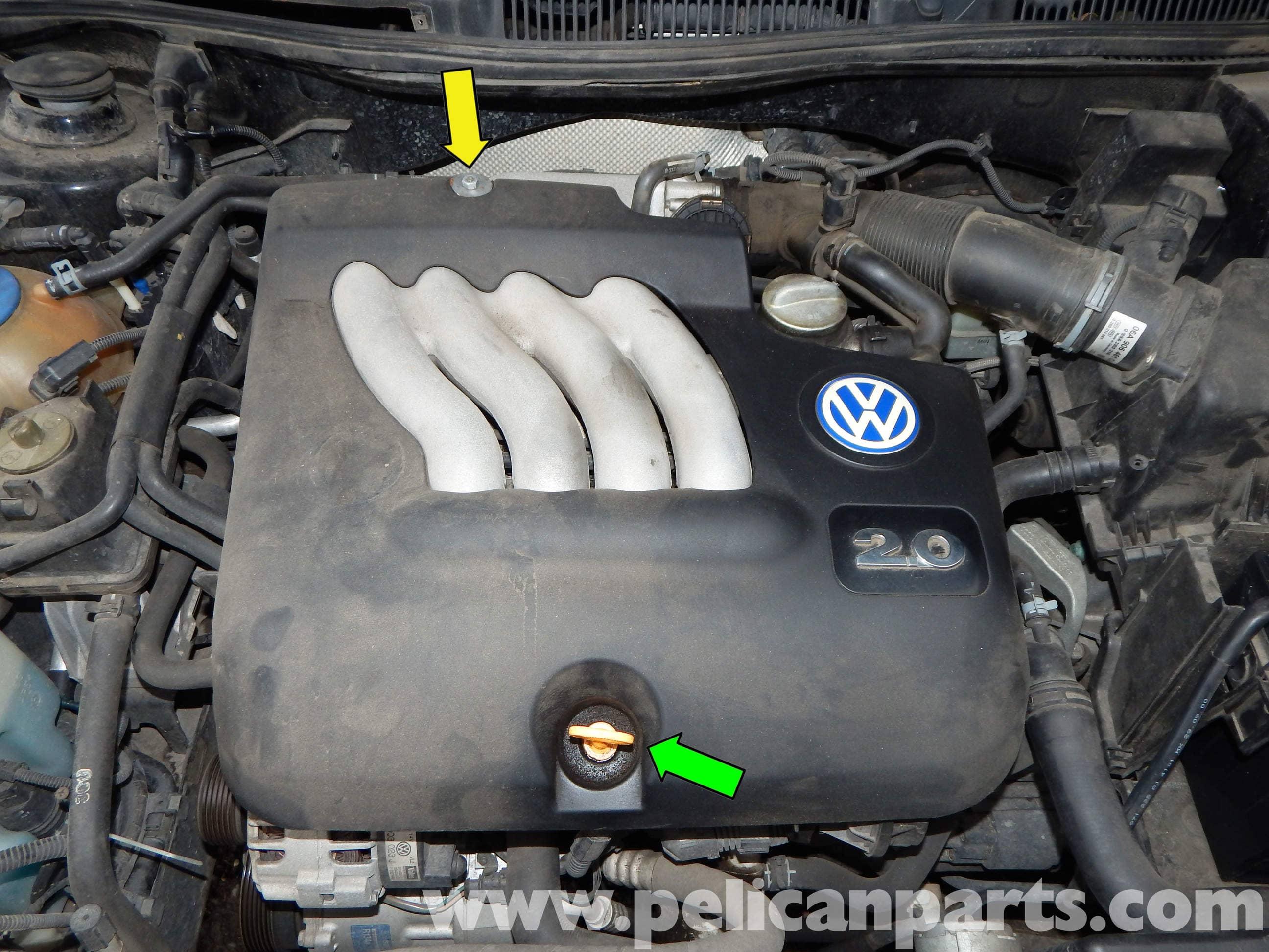 Volkswagen Jetta Mk4 Engine Cover Removal   Jetta Mk4 2.0L (1999-2005)    Pelican Parts DIY Maintenance ArticlePelican Parts
