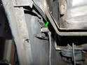 Left and Right sides of car: Pull the bulb holder (green arrow) out of the turn signal and let it hang loose.