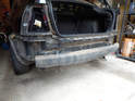 Shown here is the rear bumper on the Mk4 Jetta.