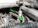 Carefully move each old wire from under the intake manifold.