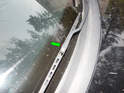 Replacing the wiper blades (green arrow) on the Mk4 Jetta can be a little confusing.