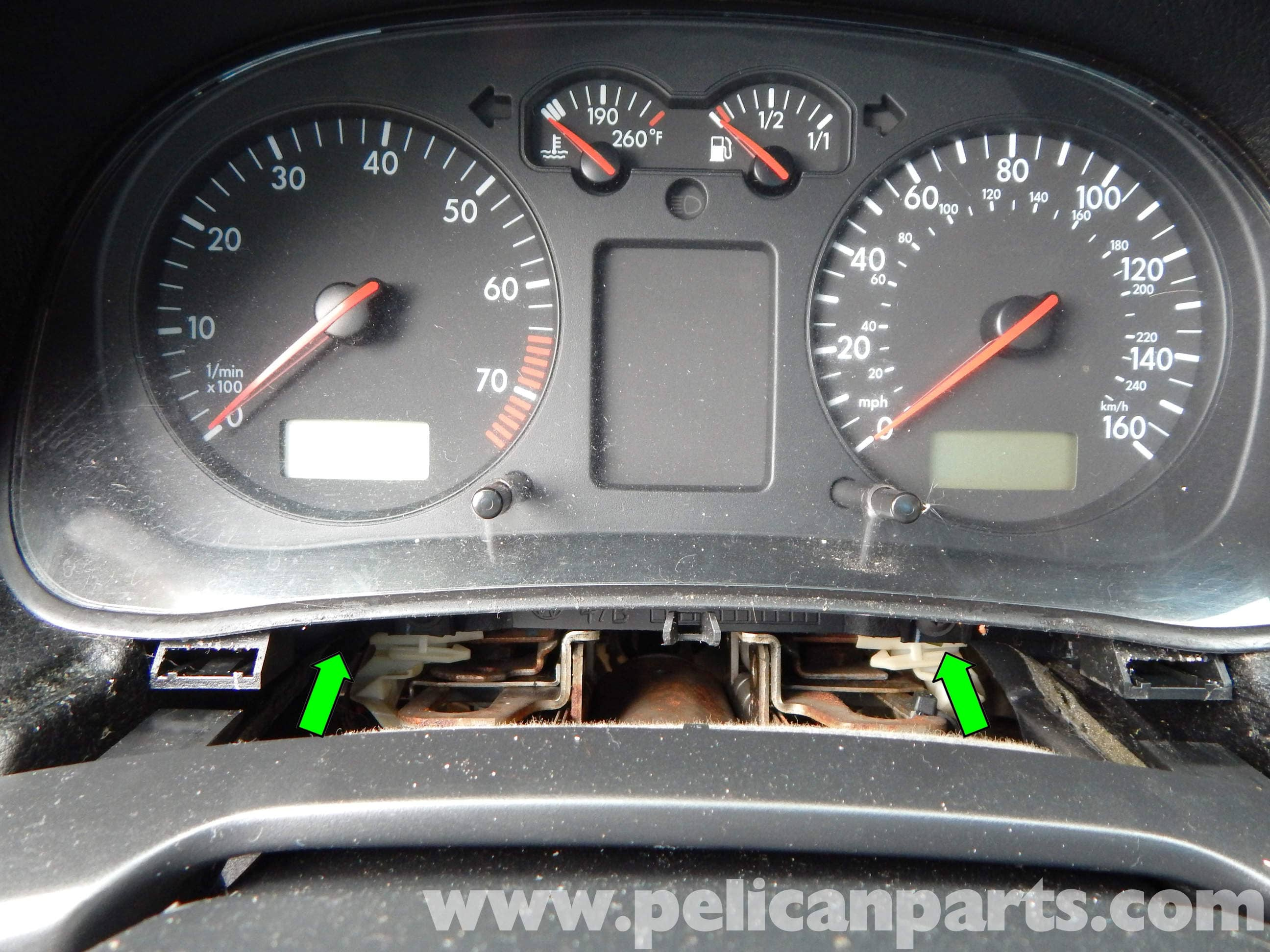 Volkswagen jetta mk4 instrument cluster removal jetta mk4 20l large image extra large image carefully maneuver the instrument cluster biocorpaavc Gallery