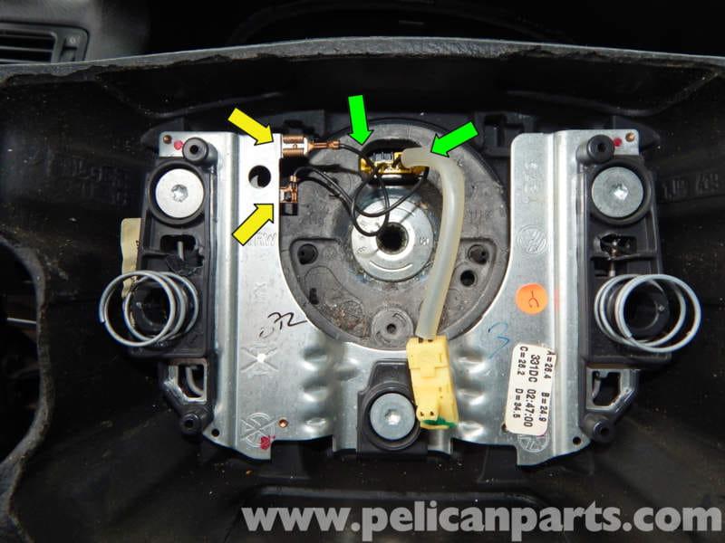 volkswagen jetta mk steering wheel removal jetta mk    pelican parts diy