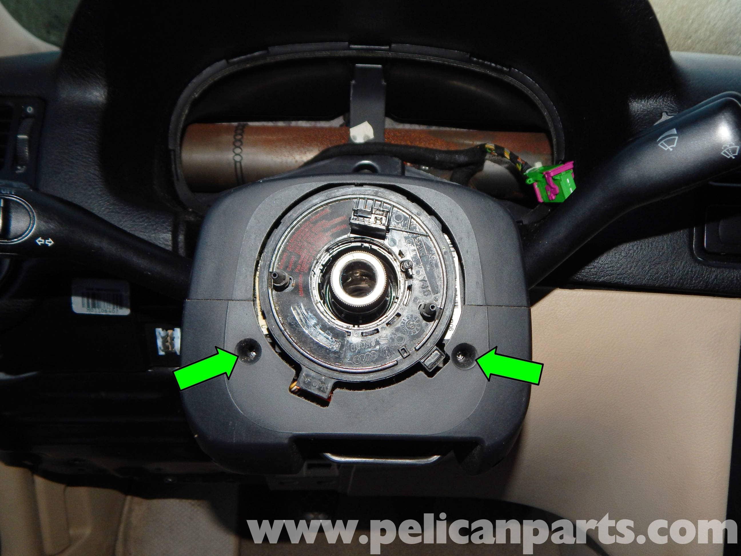 Ignition Switch Replacement >> Volkswagen Jetta Mk4 Clockspring Replacement | Jetta Mk4 2 ...