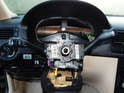 Shown here is the turn signal/wiper switch.