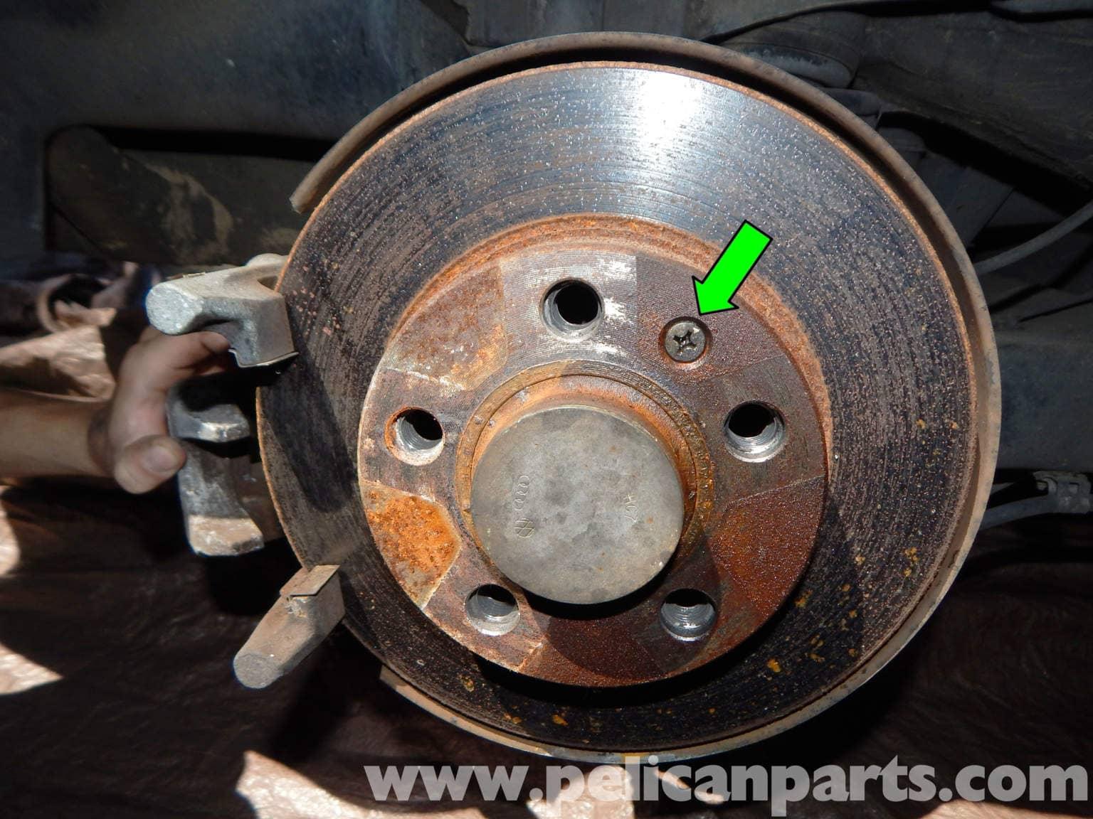 volkswagen jetta mk rear brake rotor replacement jetta mk    pelican parts
