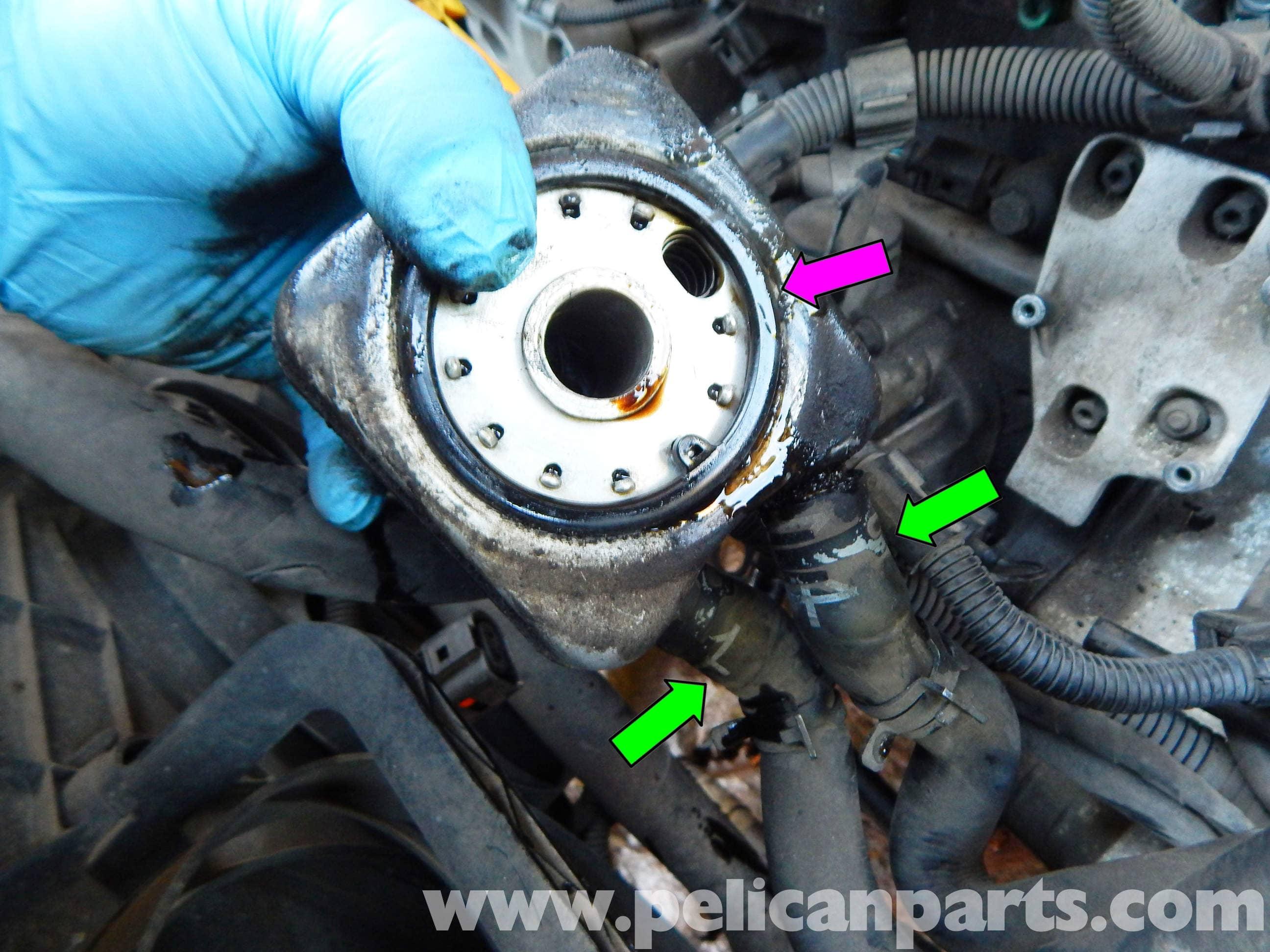 volkswagen jetta mk oil cooler replacement jetta mk    pelican parts diy