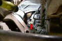 There is a bracket that attaches the cats to the engine, check the hardware (ours was 13mm) and remove the bracket support.