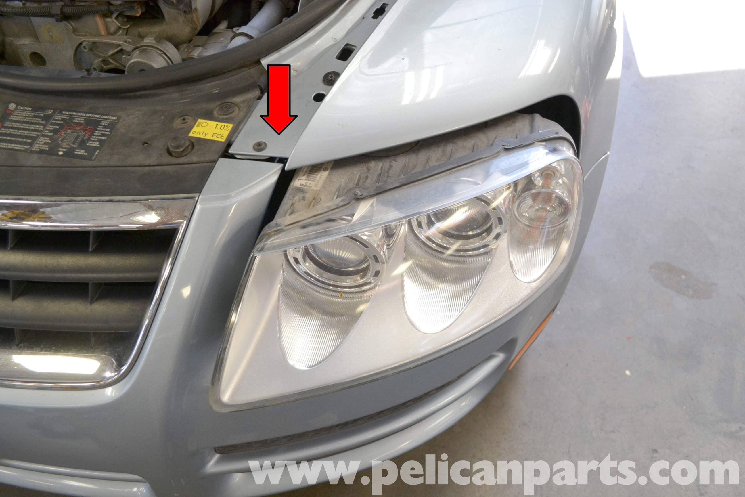 2004 volkswagen touareg headlight assembly
