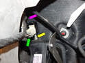 Shown here is the starter inhibit switch mounted on the clutch pedal assembly.