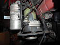 Shown here is the integrated reservoir and pump assembly on the Volvo C30.