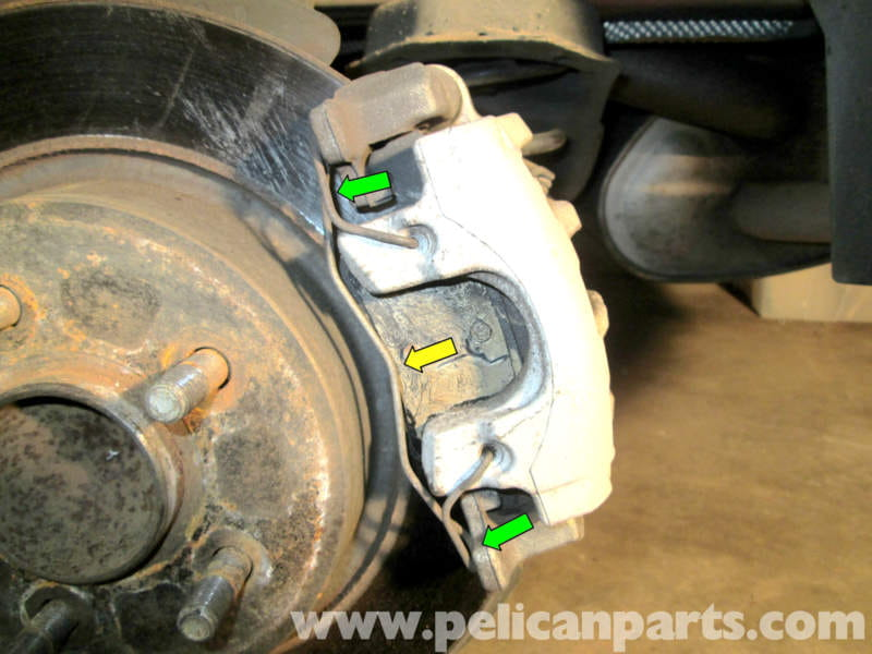volvo c30 rear brake pad replacement 2007 2013 pelican parts diy maintenance article. Black Bedroom Furniture Sets. Home Design Ideas