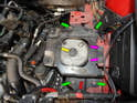 Shown here is the transmission mount on the right side of the engine bay.