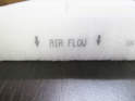 Take note of the flow direction arrow printed on the new filter.