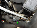 Both knock sensors use a common connector that plugs into the wiring harness shown here.