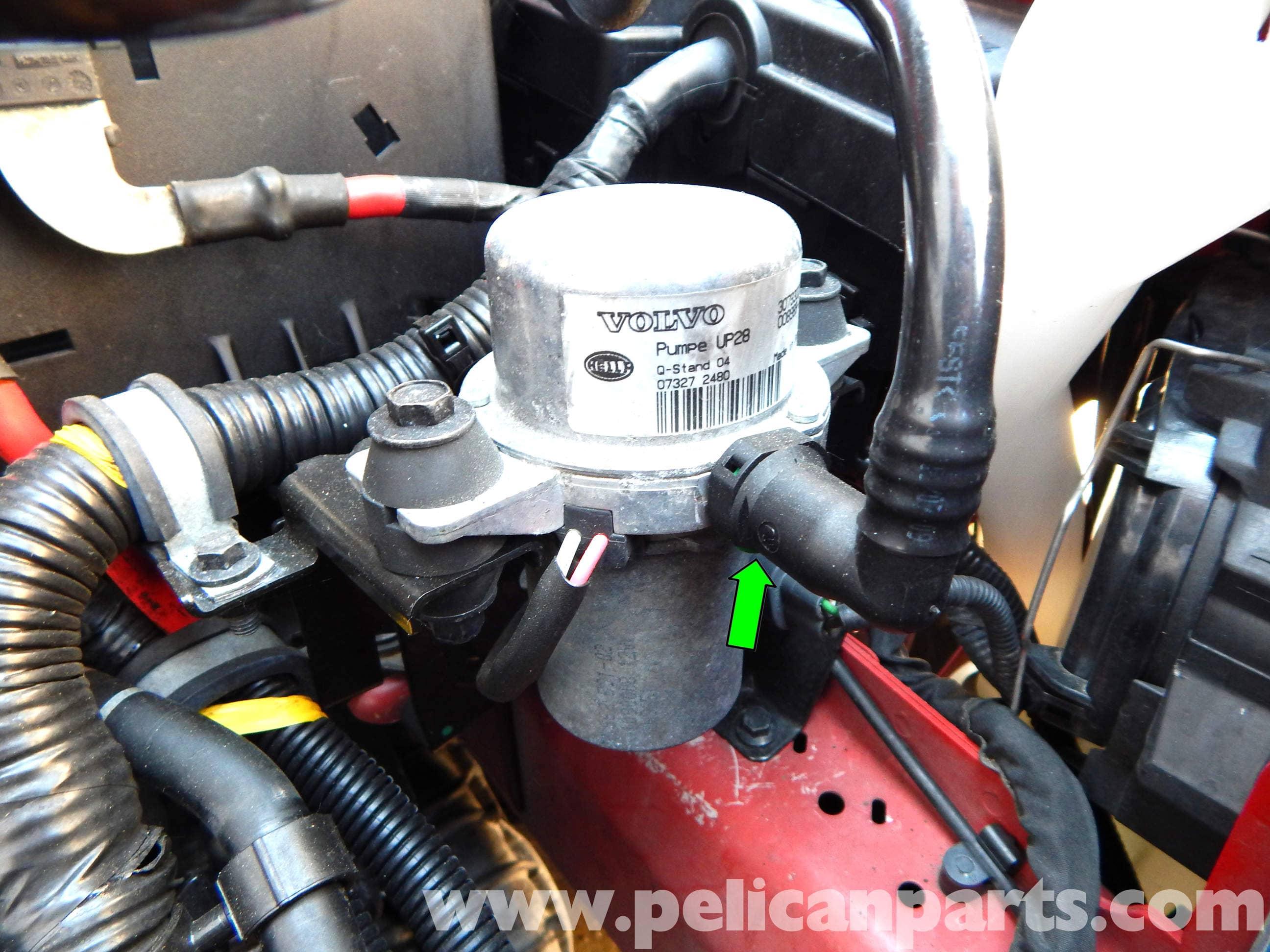 volvo c30 brake booster vacuum pump replacement 2007 2013 rh pelicanparts com Liquid Ring Vacuum Pump System Design Vacuum Pump Flow Diagram