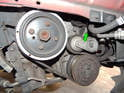 Shown here are the belt assemblies for the Volvo C30.