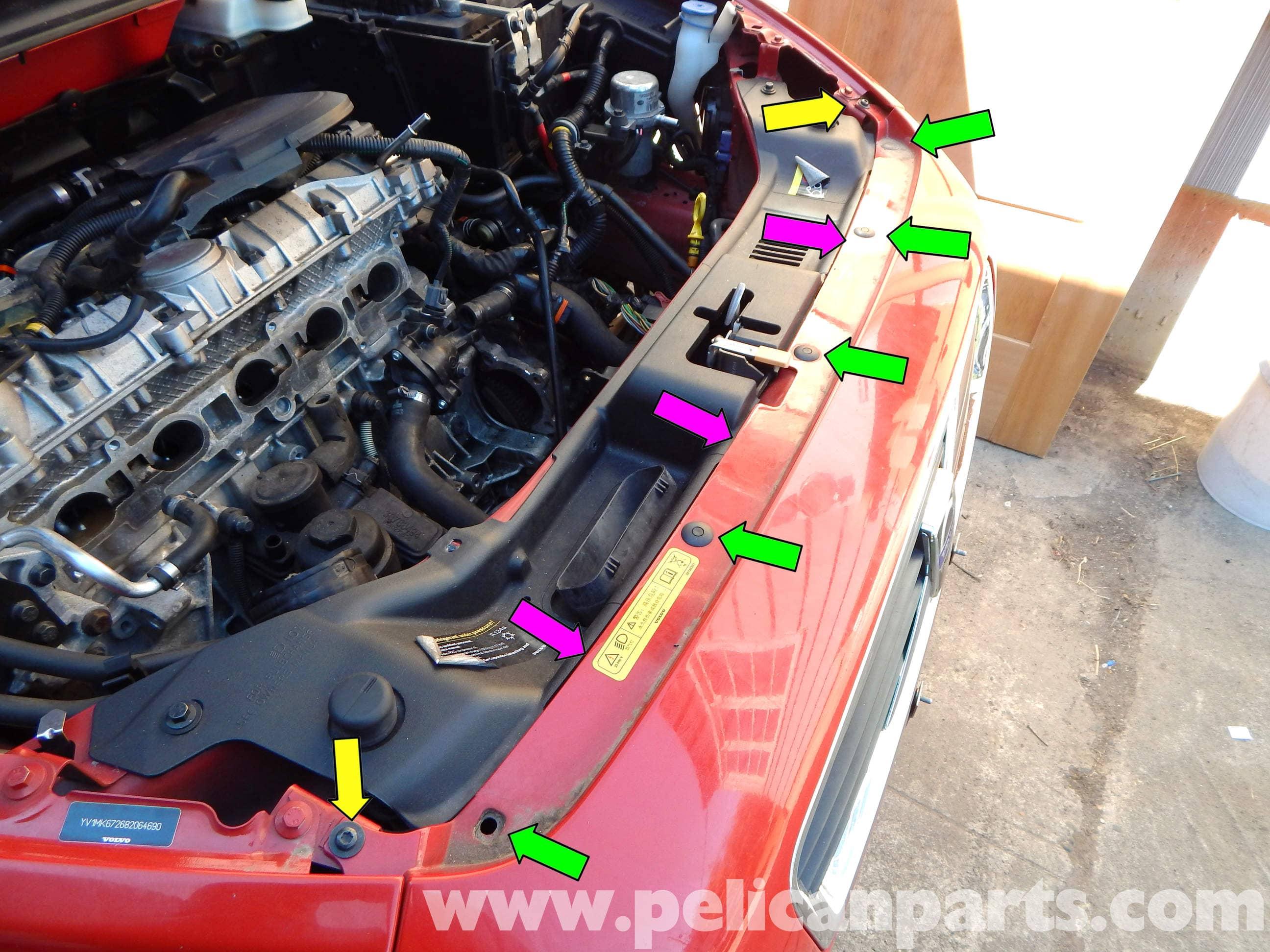 Volvo C30 Front Bumper Cover Removal  2007-2013