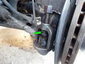 Left and Right Sides: You'll need to use a ball joint separator to pop the tie rod end from the wheel hub.