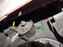 And here's a picture of what you should see with the tensioner in-situ and the belt removed.