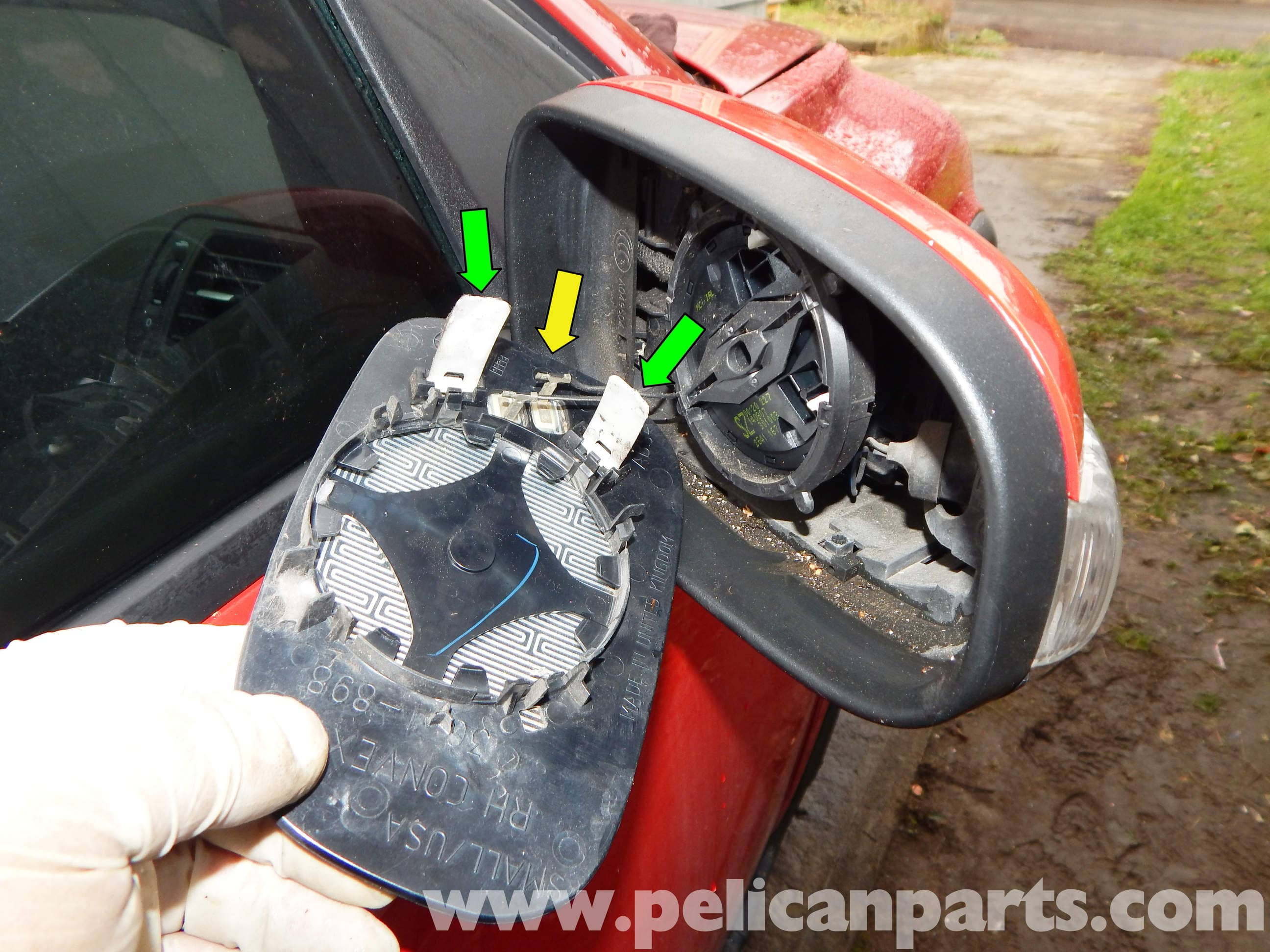 Volvo C30 Outside Mirror Glass Replacement Volvo C30 T5