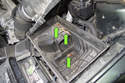 I suggest cleaning any debris (green arrows) from the air filter housing once the filter is removed.