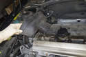 Once unclipped, lift timing belt cover up and remove from engine.