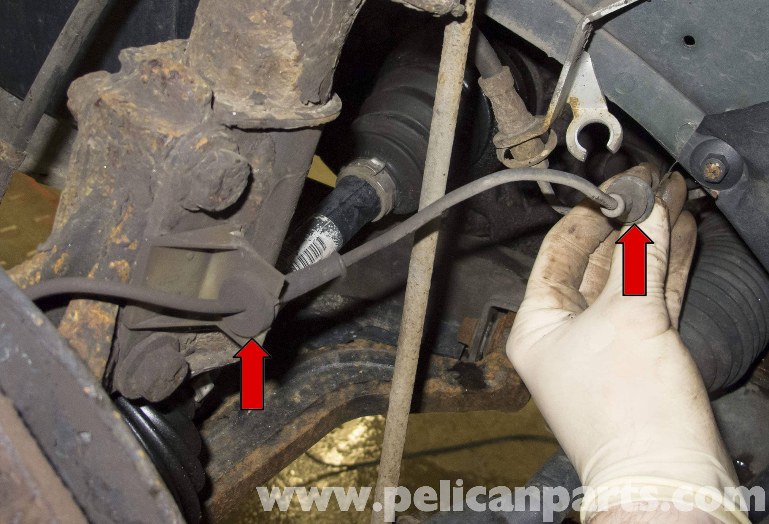 Volvo V70 ABS Wheel Speed Sensor Replacement (1998-2007