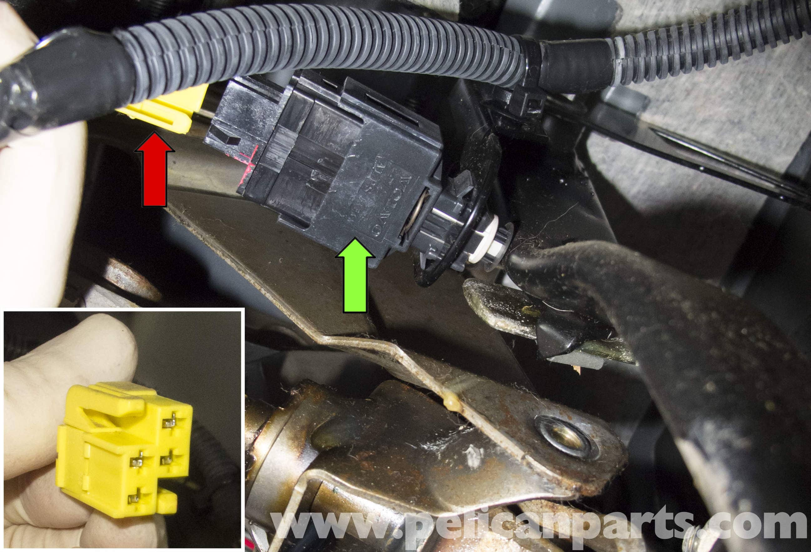 pic06 volvo v70 brake light switch replacement (1998 2007) pelican Vw R32 Wiring Diagram at mifinder.co
