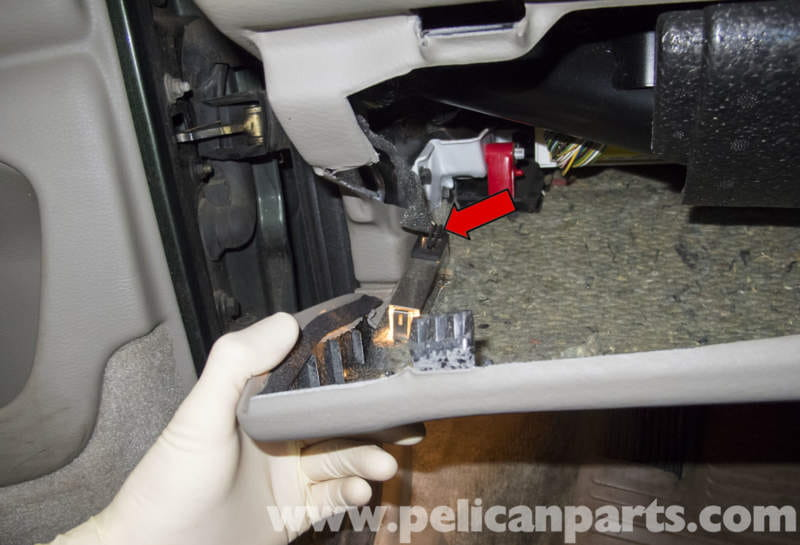 volvo v70 brake light switch replacement (1998 2007) pelican parts volvo loader lower the trim panel enough to access the footwell light electrical connector