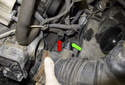 Remove the intake air duct from the intake air housing and throttle housing.