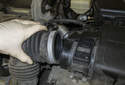 Pull the intake air duct off the mass air flow sensor.