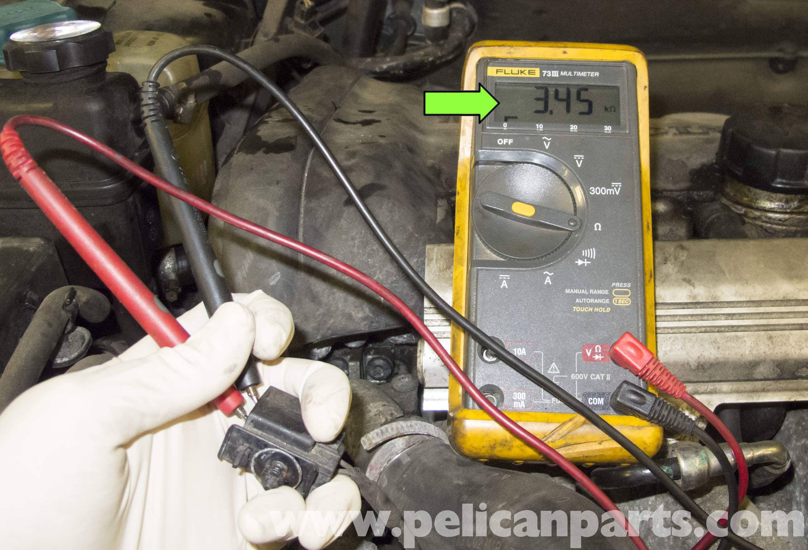 Volvo V70 Coolant Temperature Sensor Testing and Replacement (1998