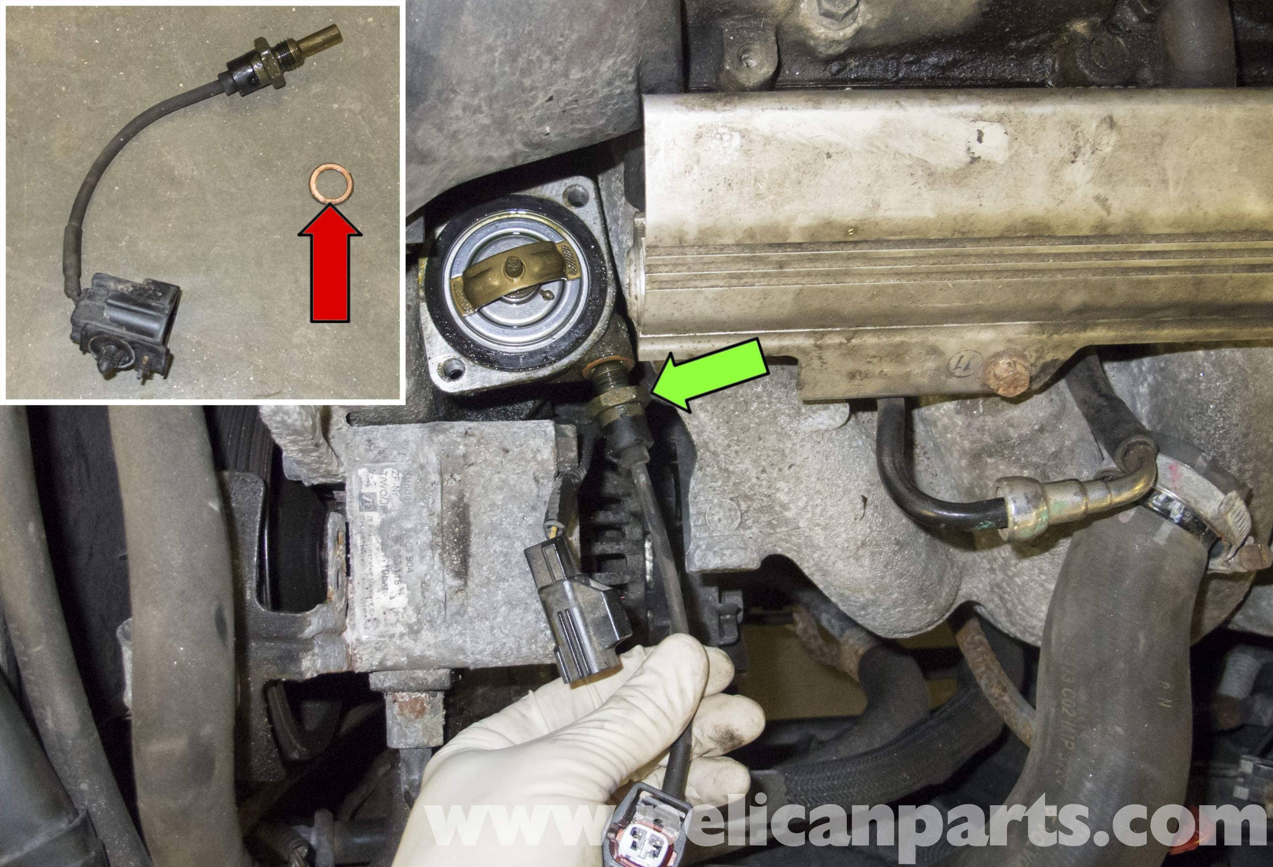 Volvo V70 Coolant Temperature Sensor Testing And Replacement 1998 2003 Wiring Harness Large Image Extra
