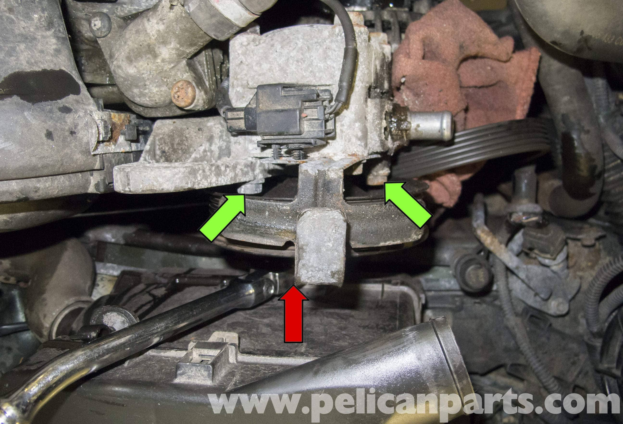 Volvo V70 Power Steering Pump Replacement 1998 2007 Pelican Wiring Diagram Large Image Extra With The Fasteners Removed Pull