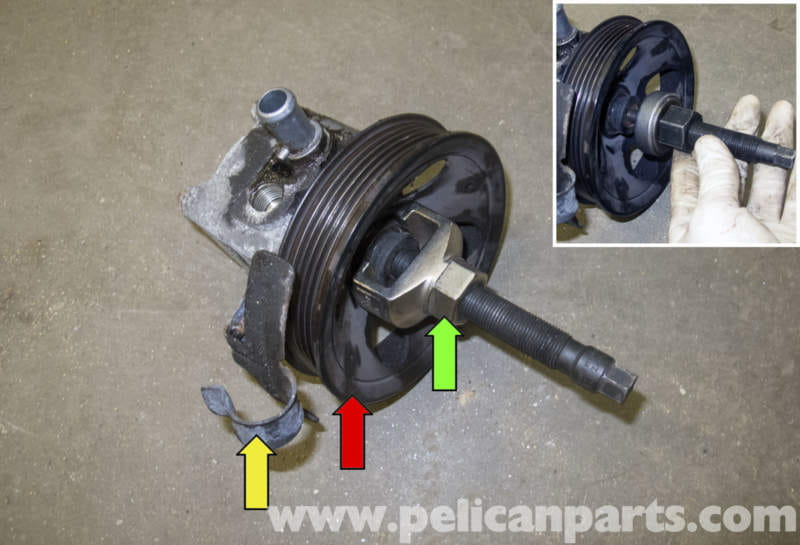 volvo v70 power steering pump replacement 1998 2007 pelican rh pelicanparts com Volvo Power Steering Pump Replacement Vickers Power Steering Pump