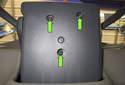 Remove the lower steering column trim T25 Torx screws (green arrows).