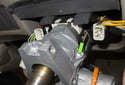 Be sure the head of the shear bolt is completely removed (green arrow) before attempting to remove the lock cylinder.