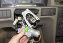 Remove the lock cylinder from the steering column.
