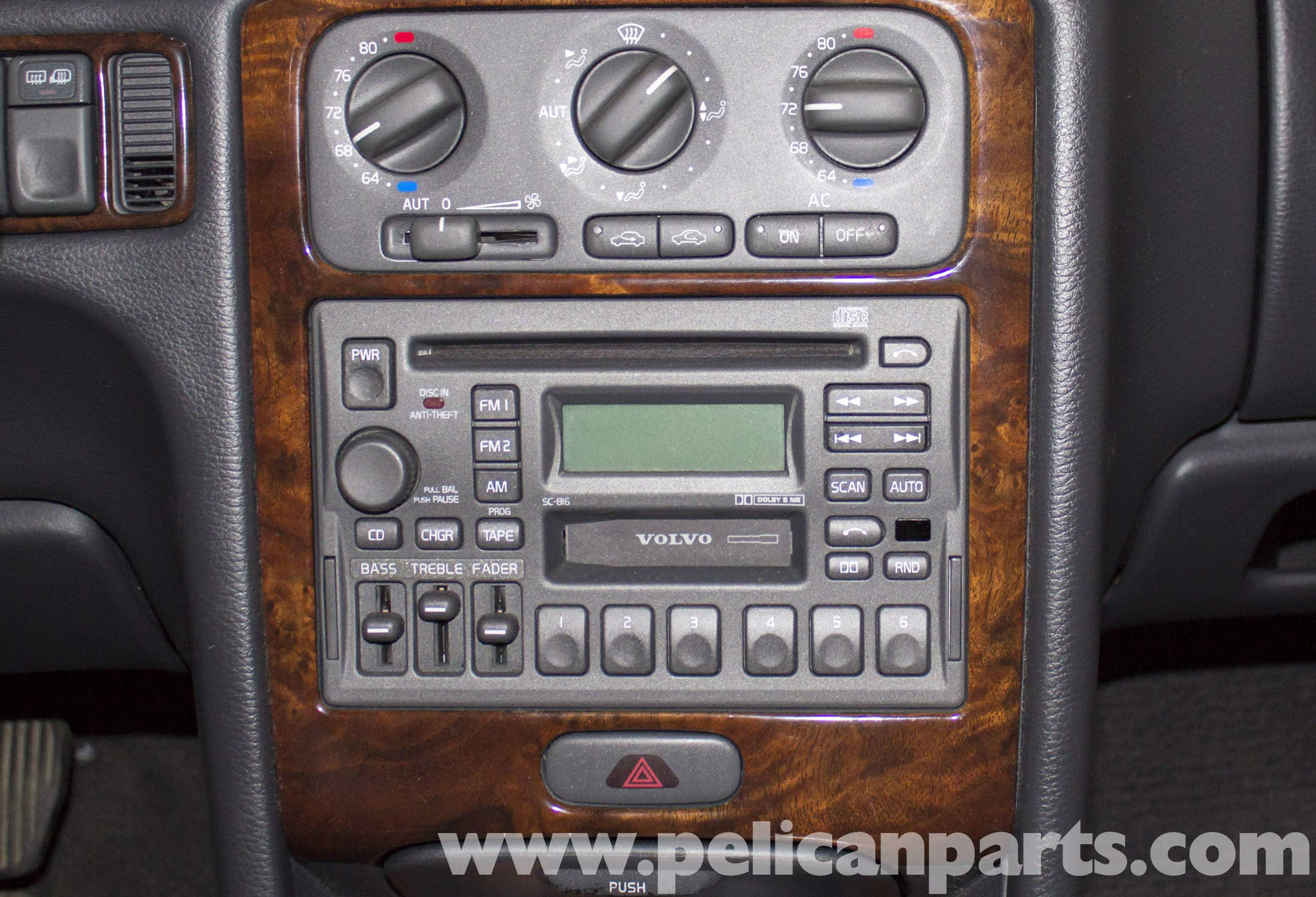 Volvo V70 Radio Replacement 1998 2007 Pelican Parts Diy Aftermarket To Factory Wiring Diagram Large Image Extra