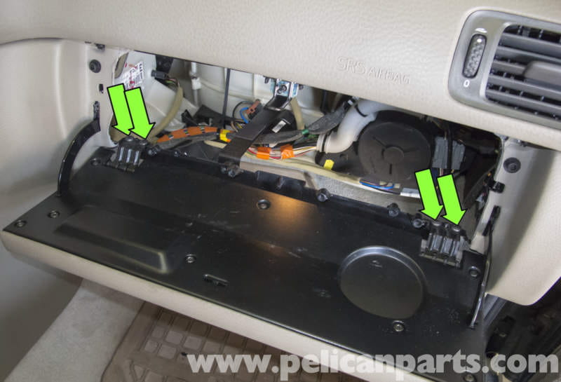 removing fuse panel from under glove box on volvo s60   53