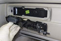 Handle Assembly: Pull the handle assembly away from the glove box door to remove it.