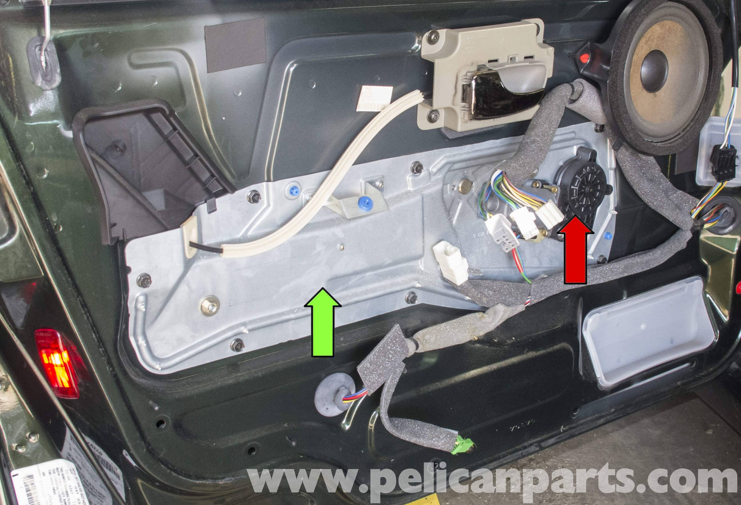 volvo v70 front window regulator replacement 1998 2007 pelican parts diy maintenance article. Black Bedroom Furniture Sets. Home Design Ideas