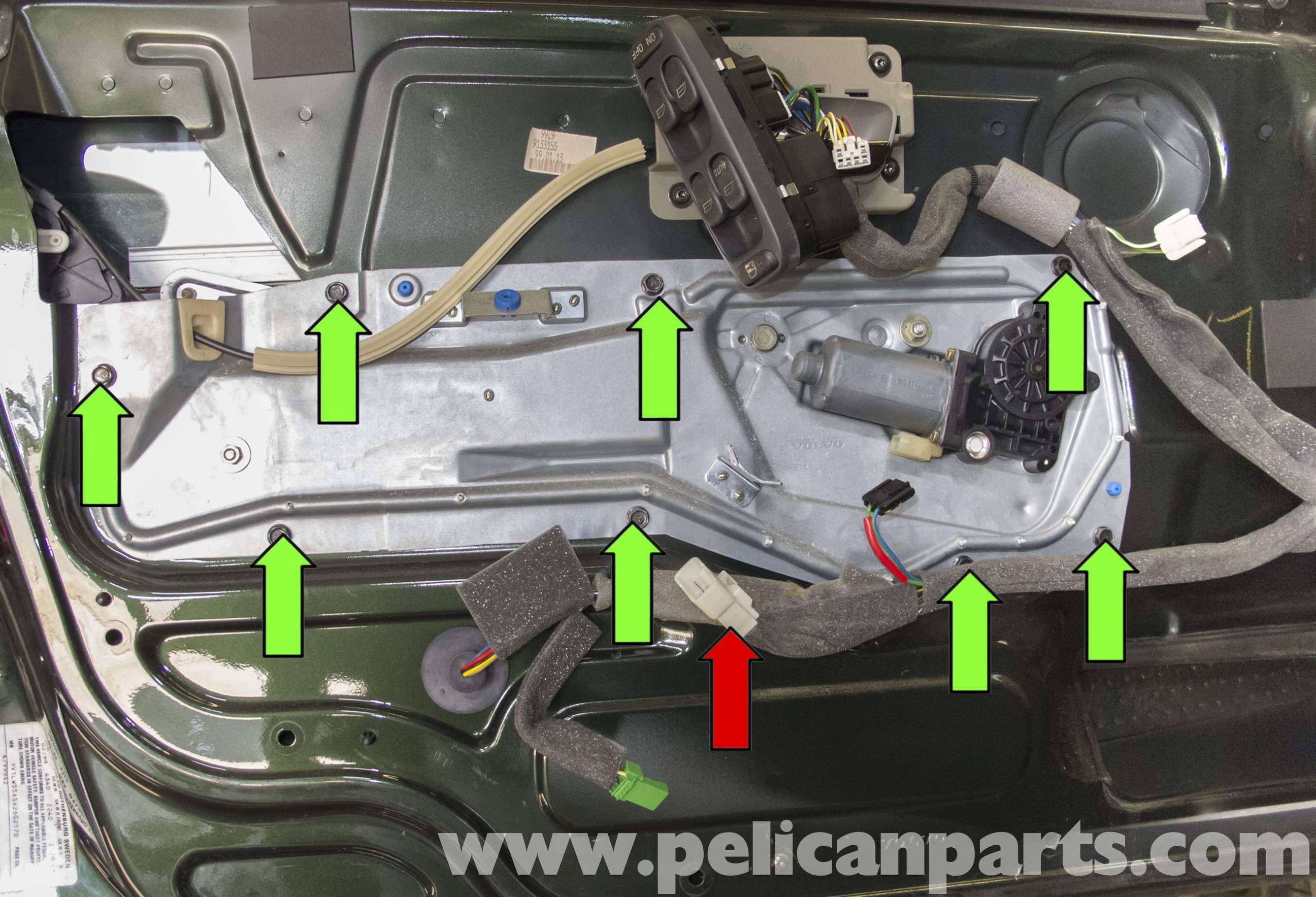Volvo V70 Front Window Regulator Replacement 1998 2007