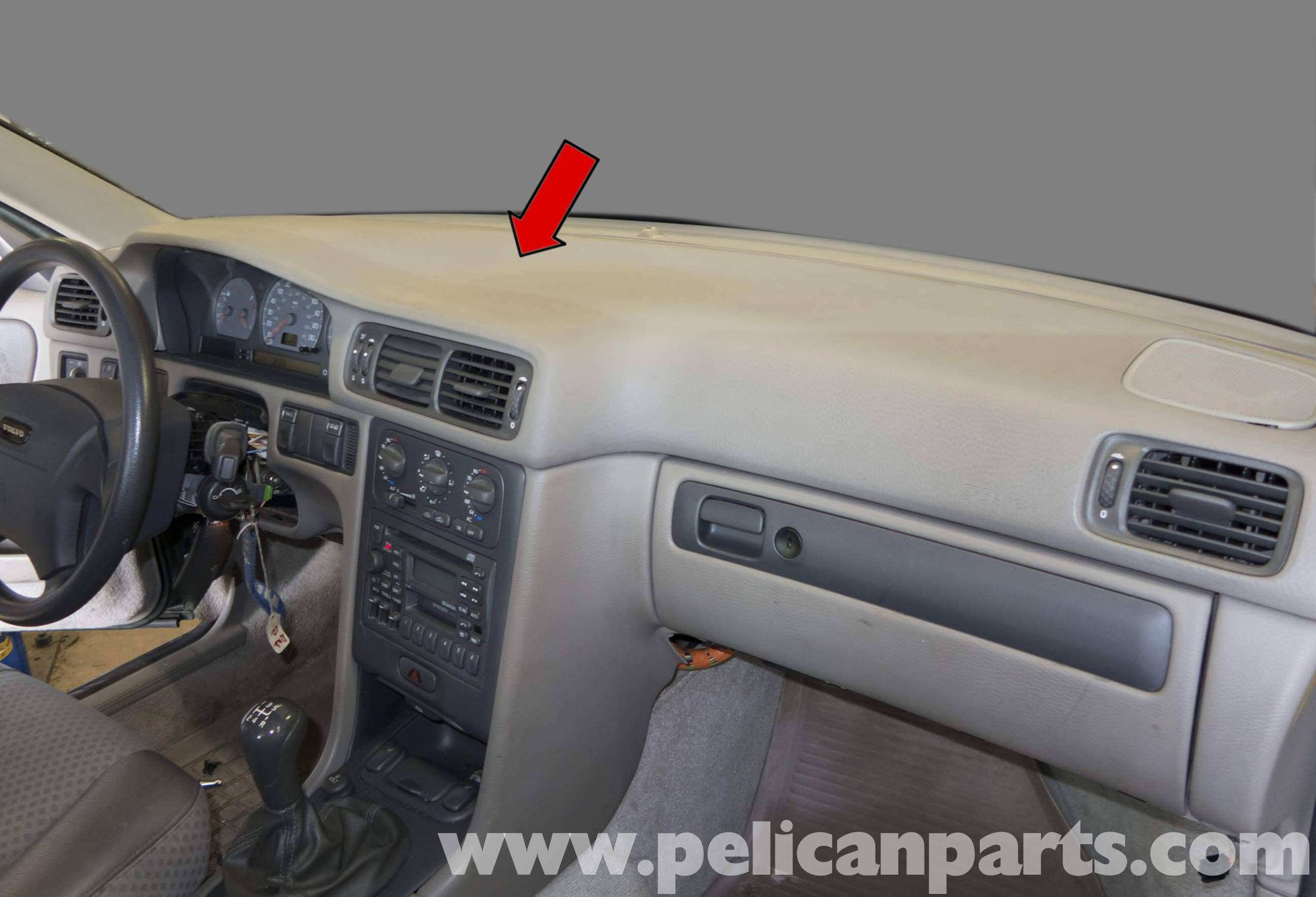 2002 Volvo C70 Seat Wiring Diagram Library Stereo V70 Upper Dashboard Panel Replacement 1998 2007 Pelican Honda Odyssey