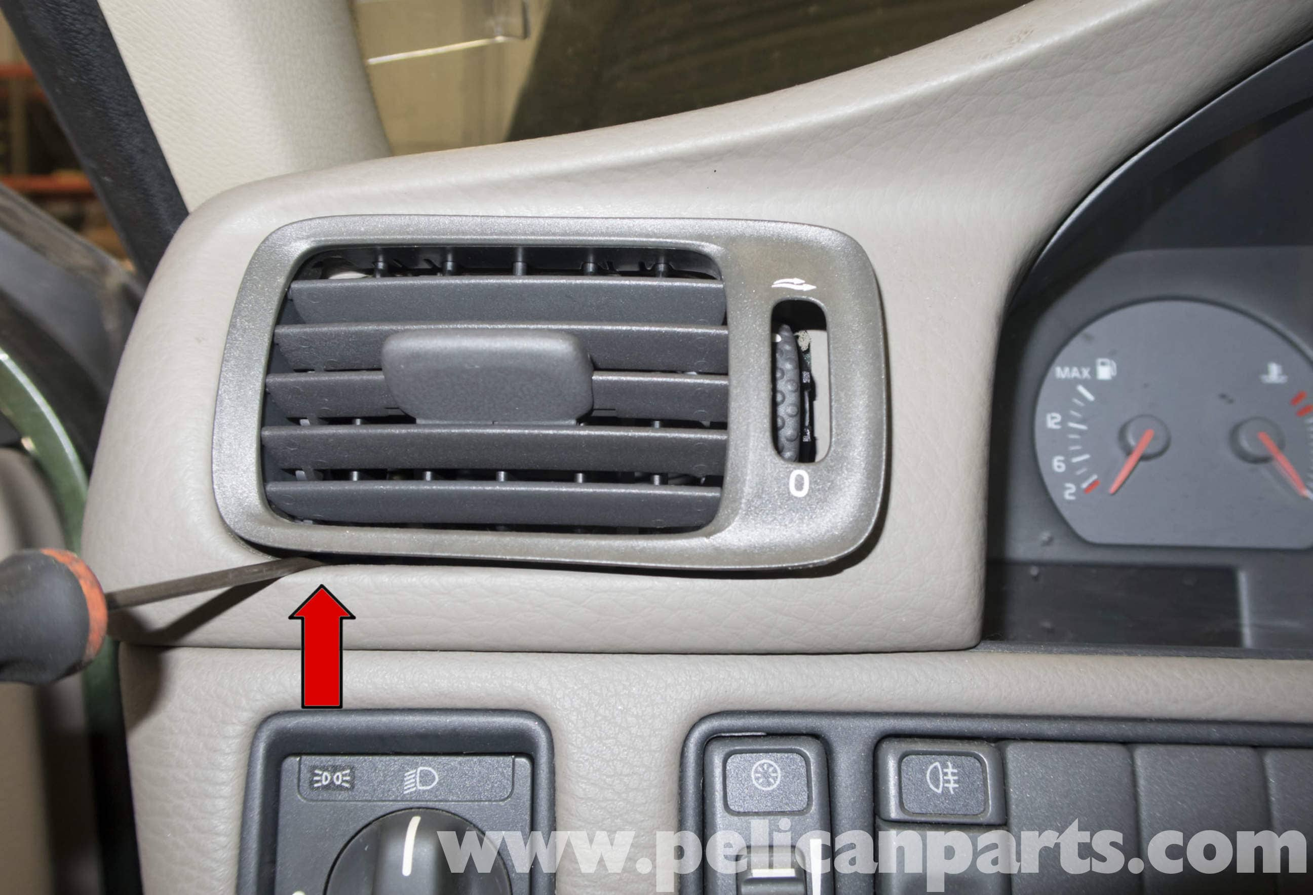 Volvo V70 Upper Dashboard Panel Replacement 1998 2007 Pelican 850 Dash Lights Large Image Extra