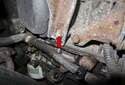 Working under the intake manifold, locate the manifold support.