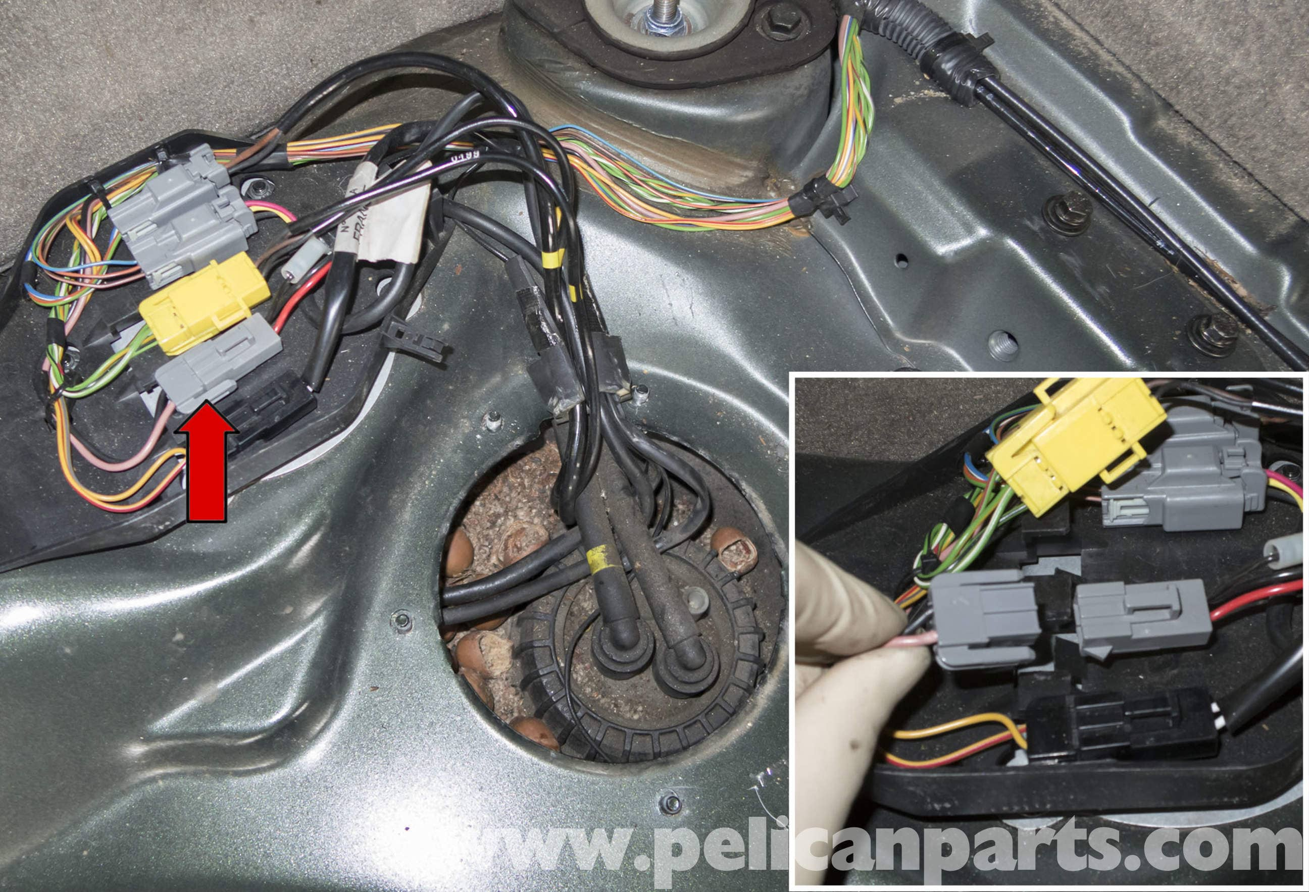 pic10 volvo v70 fuel pump replacement (1998 2007) pelican parts diy 2005 volvo xc90 fuel pump wiring diagram at webbmarketing.co