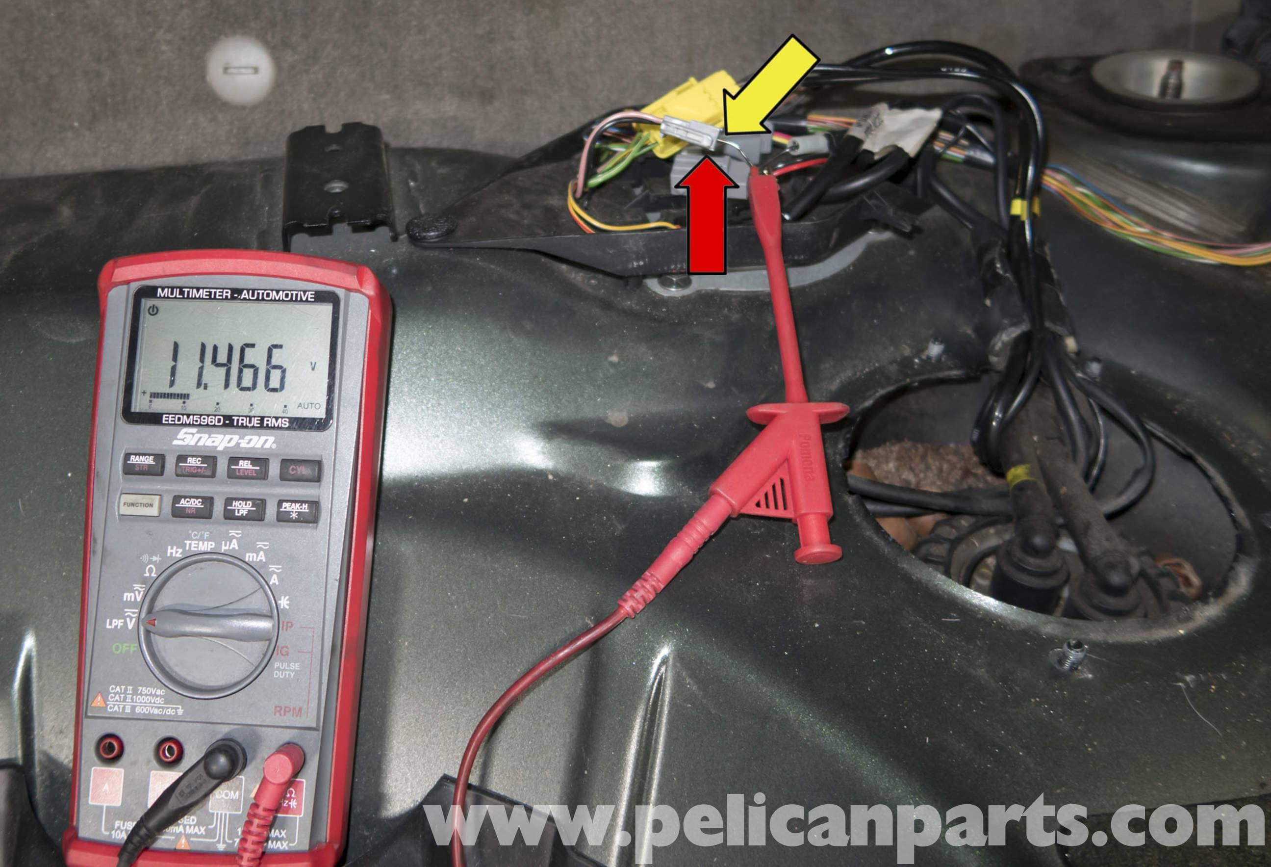 pic11 volvo v70 fuel pump replacement (1998 2007) pelican parts diy Ford Fuel Pump Wiring Diagram at reclaimingppi.co